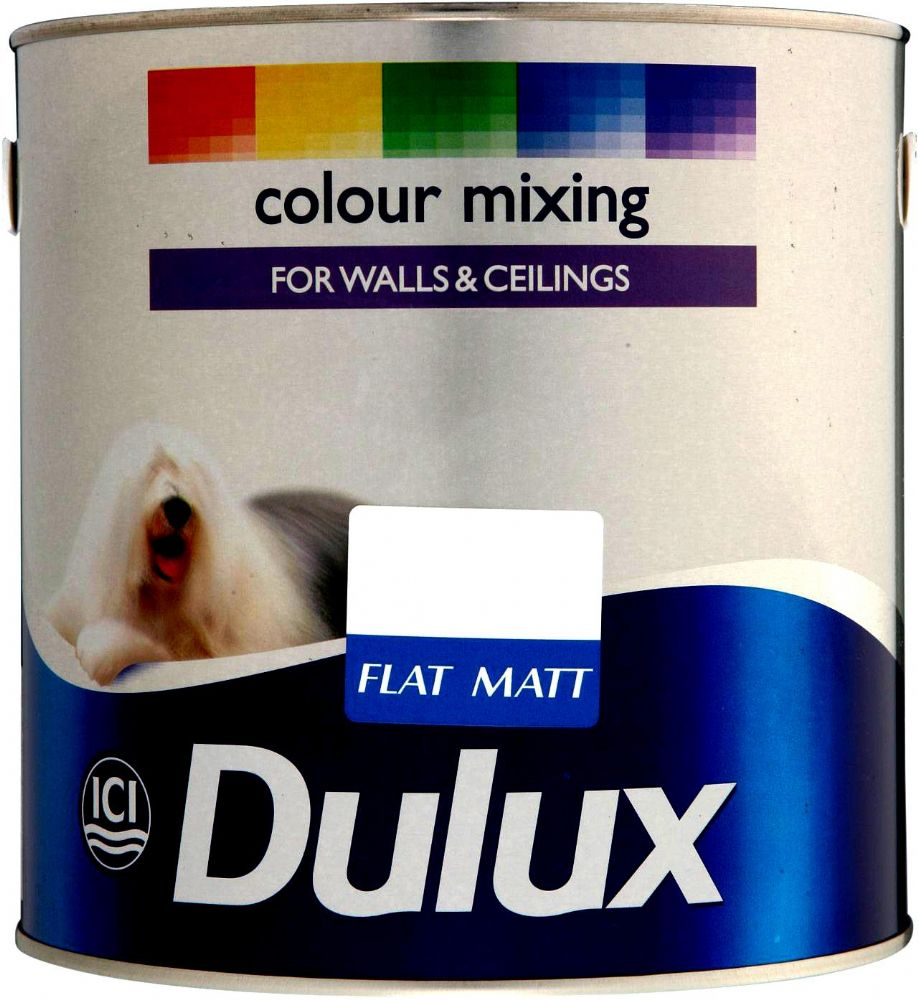 Dulux Flat Matt Paint Custom Mixed Colours 2.5L